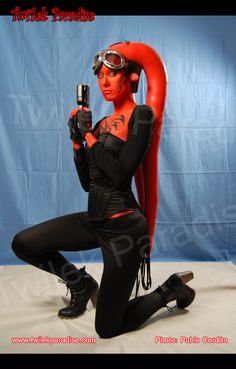 "Sith twi'lek Red long lekku ""Daesha"" style from Twi'lek Paradise twilekparadise.com"