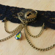 Image of Gorgeous Steampunk Clockwork Heart Choker Necklace Heart Choker, Steampunk, Chokers, Bracelets, Image, Jewelry, Jewlery, Jewerly, Schmuck