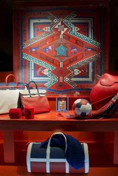 HERMES PARIS~ One of the magnificent display windows at HERMÈS that are world famous. Spring 2013, 24 Faubourg Saint-Honoré, Paris.