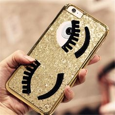 Fashionable Case Chiara Ferragni Luxurious Bling Flirting Eyes Glitter Phone Cover Shell For Couqe iPhone 5 6 6s 6sPlus 7 7plus #>=#>=#>=#>=#> Click on the pin to check out discount price, color, size, shipping, etc. Save and like it!