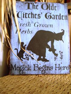Witchen Garden Sign.