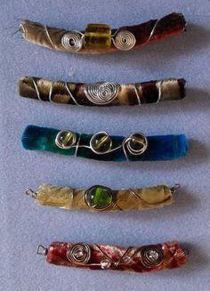 Pretty wire wrapped scrap velvet beads.  http://www.craftster.org/forum/index.php?topic=357931.0
