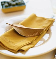 simple and easy but a nice touch for guests at Thanksgiving Dinner or any other dinner.