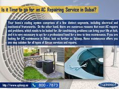 In case you are not able to give the required time to the central air condition unit, you must have a contract signed with the ac repairing dubai company in dubai. Visit upkeep home maintenance - http://www.upkeep.ae/up_service/ac-repairing-dubai/