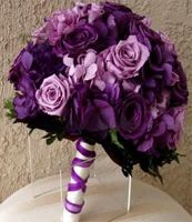 July 8 - 14 2012  Featuring Purple Ombre Wedding    Silk Flower Bouquet #Purple #Ombre #Wedding