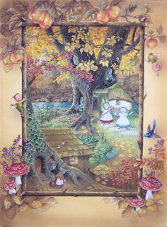 Cat & Rabbit in Autumn Forest