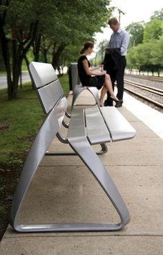 Entran ganas de sentarse en este banco: Metro40 Street Furniture by BMW Group DesignworksUSA » CONTEMPORIST