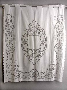 Vintage Set of Madeira Linen Napkins with Hand Done Embroidery Traditional Window Treatments, Kitchen Window Treatments, Hardanger Embroidery, Embroidery Patterns, Hand Embroidery, Yellow Kitchen Curtains, Cross Stitch Kitchen, Cheap Curtains, Crochet Curtains