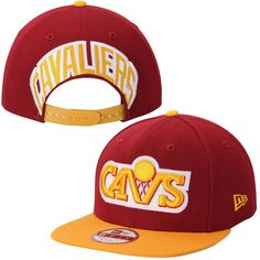 Cleveland Cavaliers New Era Mark Backer Original Fit 9FIFTY Adjustable Hat - Cardinal