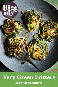Our Very Green Fritters are a simple yet delicious recipe for a seriously swift supper Spinach And Cheese, Baby Spinach, Potato Flour, Eat The Rainbow, Family Kitchen, Fritters, Artichoke, Swift, Yummy Food
