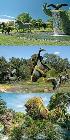 Montreal Jardín botánico está viva con esculturas
