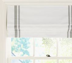 Pottery Barn Kids' roman shades feature a cordless design. Find window treatments and roman shades and give the room a boost of personality and style. Blackout Roman Shades, Diy Roman Shades, Blackout Panels, Blackout Curtains, Plywood Furniture, Baby Furniture, Furniture Design, Window Panels, Window Coverings