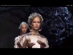 """""""DOLCE & GABBANA"""" Womenswear Fashion Show Spring Summer 2014 MIlan. This collection was inspired from Athen building of Greece"""