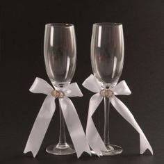 Champagne Glass Set Diamante Circle www.bunchesforafrica.com