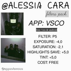 @alessiasmusic filter pack. I hope u like. #filterofamous ____________________________________________ Templates/font acc: @aofneeds Personal: @q.nne We heart it: appsoffamous ( link in bio) Request? Dm!!!