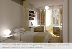 Prêmio Secil Universidades – Arquitetura: Centro Multifuncional e Residência de Estudantes  / Simão Silveira Botelho,Quarto Duplo