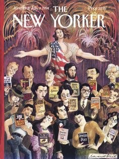 "The New Yorker - Monday, June 27, 1994 - Issue # 3616 - Vol. 70 - N° 18 - « Celebrates Fiction » - Cover ""The Melting Plot"" by Edward Sorel"