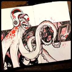 CreatureBox • Inktober Day 21: Contrary to his training,...