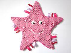 doudou étoiles imprimé petits cœurs de Nanalili sur DaWanda.com