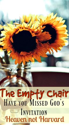 Have you Missed God's invitation? Left an empty chair at God's feast? An empty chair at our table reminded me I had turned down His invitation.  #Faith #ParentingTeens #Christianity via @https://www.pinterest.com/heavennotharvar/