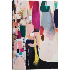 Equally at home in a modern collage or on its own as a gallery-worthy focal point, this painterly canvas print features an abstract motif.  ...