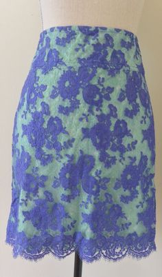 Anthropology GREGORY PARKINSON lace sheath skirt size 4  #GreogoryParkinson #StraightPencil