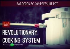 Barocook Pressure Pot Cooker BC-009  Easily cook a large meal without the need of fire! This revolutionary new stove is perfect for campers and outdoor enthusiasts that want to feed a small group. It can also be used for emergency situations or when gas or electricity is unavailable. This stove reaches temperatures of 214.7 degrees Fahrenheit to quickly cook your meals.  BC 009 47 oz. heats up to 214.7° F, 1 50g heating pack, instruction sheet #barocookusa www.barocook.us