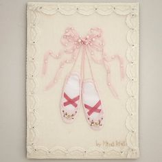 Your place to buy and sell all things handmade Little Ballerina, Ballerina Shoes, Ballet Shoes, Silk Ribbon Embroidery, Hand Embroidery, Sports Quilts, Shabby Chic Theme, Embroidery Services, Shadow Box Frames