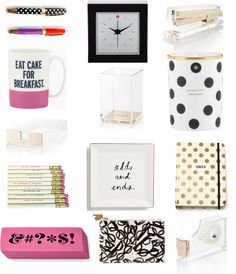 On the blog: Kate Spade office supplies style steal! | www.makinitwithmarissa.com