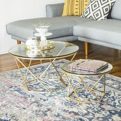 40 Modern Living Room Table Sets For Your Home Coffee Table Joss And Main, Modern Glass Coffee Table, Brass Coffee Table, Small Coffee Table, Cool Coffee Tables, Glass Table, Modern Living Room Table, Living Room Furniture, Living Rooms