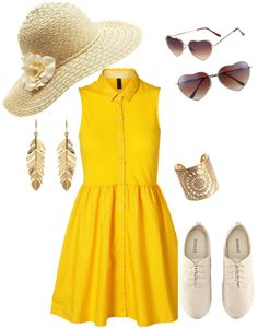 """Yellow summer lovin'"" by ehulse on Polyvore"