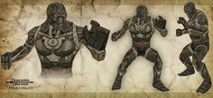 Early warforged concept - Dungeons & Dragons Online