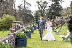 on the wall walk in spring. @Huntsham Court #bestweddinglocation - www.huntshamcourt.co.uk