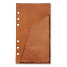 KAKURA/バイブルフリーポケット アンティークブラウン 2940yen 自分好みでシステム手帳に追加するフリーポケット