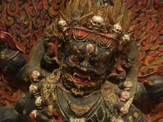 Mahakala  Painted clay, flour-paste and human bone ash.  Tibet  c. 18th century