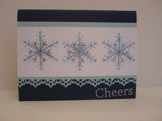 Cheers to Winter Snowflake Card by RSVPandCo on Etsy, $3.00