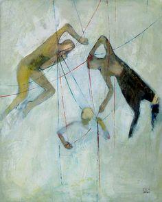 """Saatchi Online Artist Zek ; Painting, """"Ropes"""" #art"""