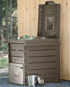 Deluxe Pyramid Composter  $169.00     Seems like what I want, but will the open bottom be a mess? Can I stand it on concrete?