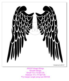 Angel Wings stencil. Best one I've ever found.