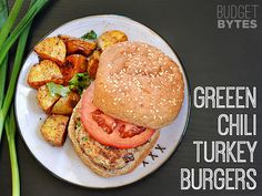 Boring would never be a word to describe these green chile turkey burgers! Source: Budget Bytes