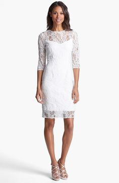 Carmen Marc Valvo Lace Sheath Dress available at #Nordstrom