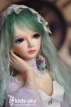 Aquamarine KS kids sky Doll 1/3 58cm Girl SD  super dollfie BJD free face up #kidssky