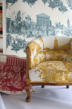 Timorous Beasties  -New York Toile Armchair