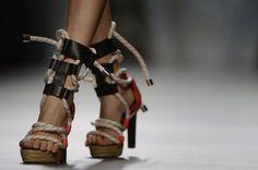 Zapatos de Ana Locking en la MBFWMadrid septiembre 2012