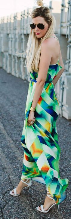 Abstract Print Maxi Dress Summer Style by A Little Dash Of Darling