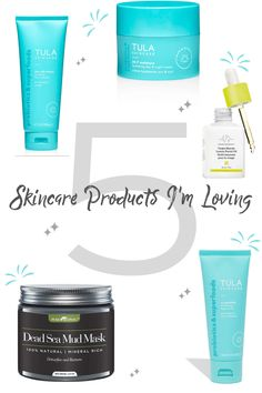 5 Skincare Products I'm Loving Tula Skincare, Dead Sea Mud, Travel Size Bottles, Best Face Mask, Healthy Skin Care, Facial Care, Face Oil, Face Cleanser, Beauty Tricks