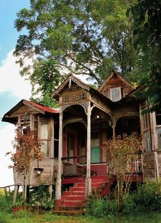 old wooden house Caribbean