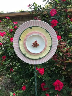 Candy Pink Floral Glass Flower Plate