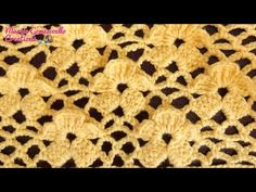 Filet Crochet, Crochet Motif, Diy Crochet, Crochet Flowers, Crochet Stitches Patterns, Stitch Patterns, Knitting Patterns, Stitch 2, Crochet Videos