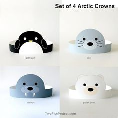 Artic Animals, Baby Animals, Arctic Animals For Kids, Costume Ours, Animal Crafts For Kids, Seal Crafts For Kids, Animal Masks For Kids, Norway Crafts For Kids, Polo Norte